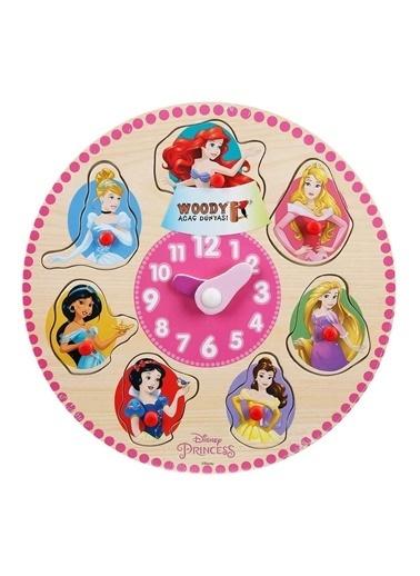 Sunman Sunman 18208 Disney Princess Baskılı Ahşap Bultak Tutmalı Saat Renkli